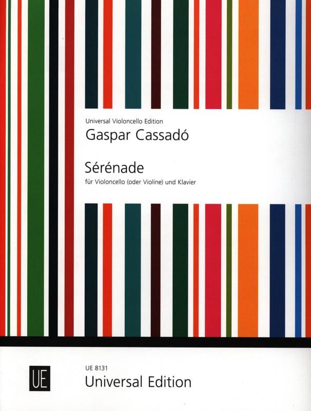 Sérénade - Gaspar Cassado - Partition - Violoncelle - laflutedepan.com