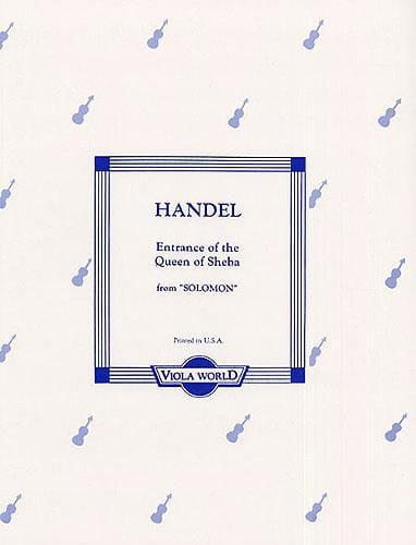 The Entrance Of The Shebba Queen - HAENDEL - laflutedepan.com