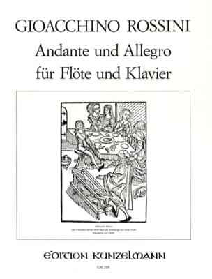 Andante und Allegro - Flöte Klavier ROSSINI Partition laflutedepan