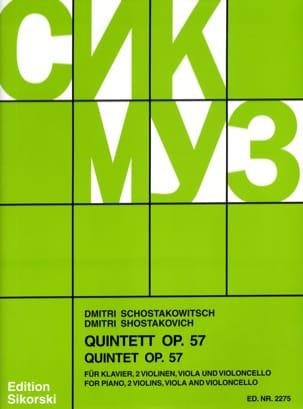 Quintette à Cordes avec Piano op. 57 CHOSTAKOVITCH laflutedepan
