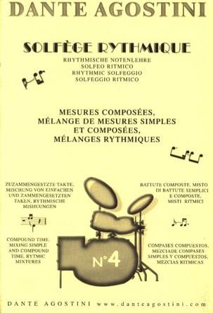 Solfège rythmique - Cahier n° 4 Dante Agostini Partition laflutedepan