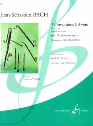 BACH - 15 Erfindungen mit 3 Stimmen - 3 Klarinetten - Partition - di-arezzo.de