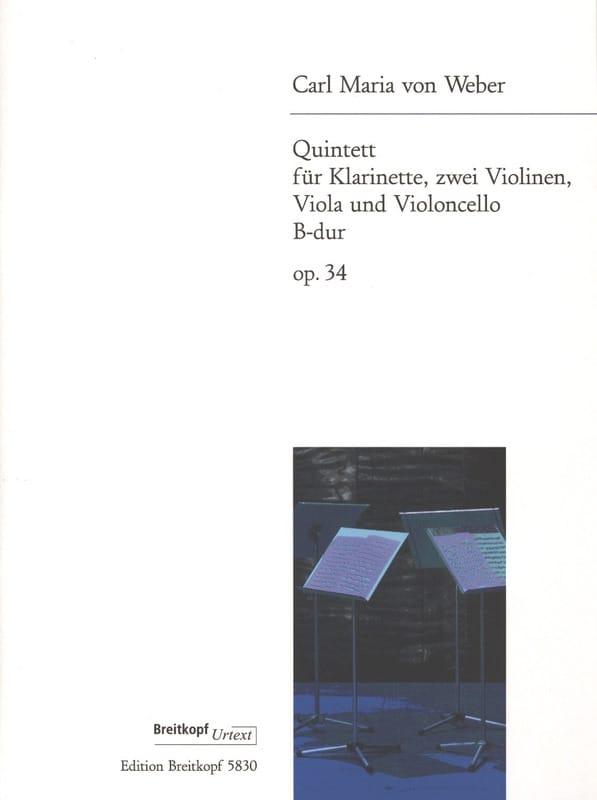 Quintett B-Dur Op. 34 -klarinette Streichquartett - Stimmen - laflutedepan.com