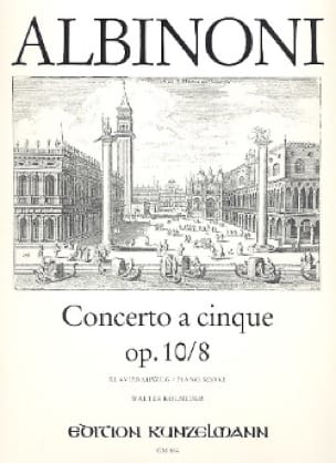 Concerto a cinque op. 10/8 - ALBINONI - Partition - laflutedepan.com
