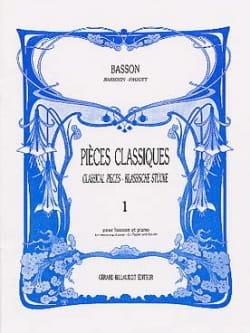 Pièces classiques - Volume 1 -Basson Partition laflutedepan