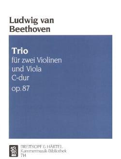 Trio C-dur op. 87 - Stimmen BEETHOVEN Partition Trios - laflutedepan