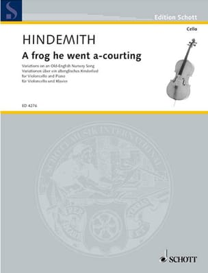 A frog he went a-courting HINDEMITH Partition laflutedepan