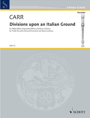 Divisions upon an Italian Ground Robert Carr Partition laflutedepan