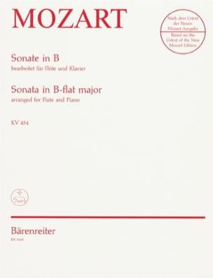 Sonate in B KV 454 - Flöte Klavier MOZART Partition laflutedepan