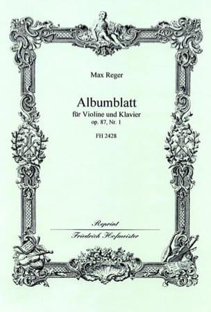 Albumblatt op. 87 n° 1 - Max Reger - Partition - laflutedepan.com