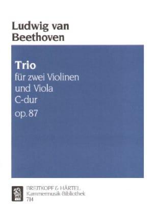 Trio C-dur op. 87 - Stimmen - BEETHOVEN - Partition - laflutedepan.com