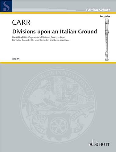 Divisions upon an Italian Ground - Robert Carr - laflutedepan.com