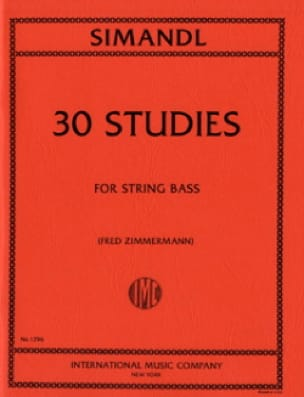 30 Studies - String bass - Franz Simandl - laflutedepan.com