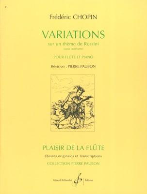 Variations sur un thème de Rossini CHOPIN Partition laflutedepan