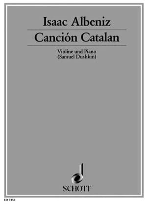 Canción Catalan ALBENIZ Partition Violon - laflutedepan