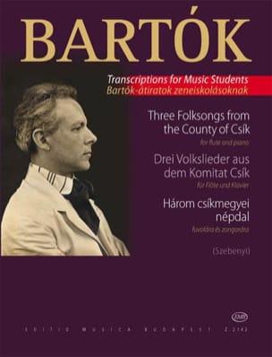 3 Volkslieder aus dem Komitat Csik - Flöte Klavier BARTOK laflutedepan