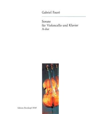 Sonate en la Majeur Opus 13 FAURÉ Partition Violoncelle - laflutedepan