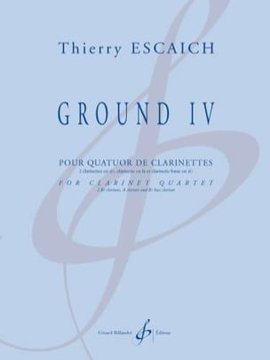 Ground IV Thierry Escaich Partition Clarinette - laflutedepan
