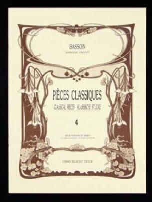 Pièces classiques - Volume 4 -Basson - laflutedepan.com