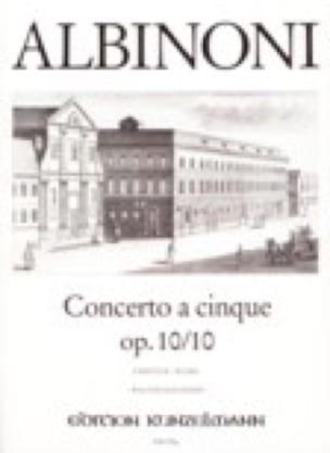 Concerto a cinque op. 10/10 - ALBINONI - Partition - laflutedepan.com