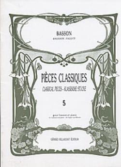 Pièces Classiques Volume 5 - Basson Partition Basson - laflutedepan