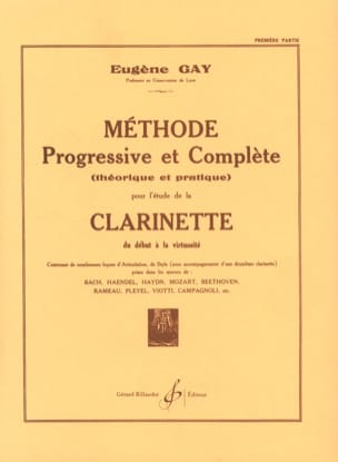 Méthode Progressive et Complète Volume 1 Eugène Gay laflutedepan
