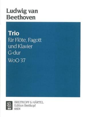 Trio G-Dur WoO 37 -Flöte Fagott Klavier BEETHOVEN laflutedepan