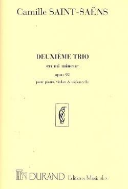 Trio n° 2 en mi mineur op. 92 SAINT-SAËNS Partition laflutedepan