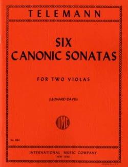 6 Sonates canoniques pour 2 altos TELEMANN Partition laflutedepan