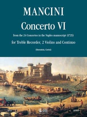 Concerto 6 -flauto 2 violini e bc Francesco Mancini laflutedepan