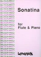Sonatina - Flûte et Piano Malcolm Arnold Partition laflutedepan