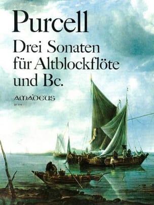 3 Sonaten - Altblockflöte und Bc Daniel Purcell Partition laflutedepan