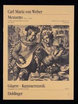 Menuett Mit Trio A-Dur Carl Maria von Weber Partition laflutedepan