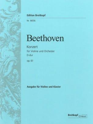 Concerto en Ré Majeur Opus 61 BEETHOVEN Partition laflutedepan