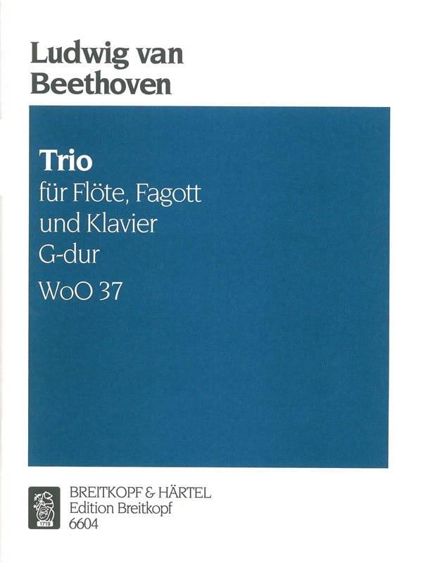 Trio G-Dur WoO 37 -Flöte Fagott Klavier - laflutedepan.com
