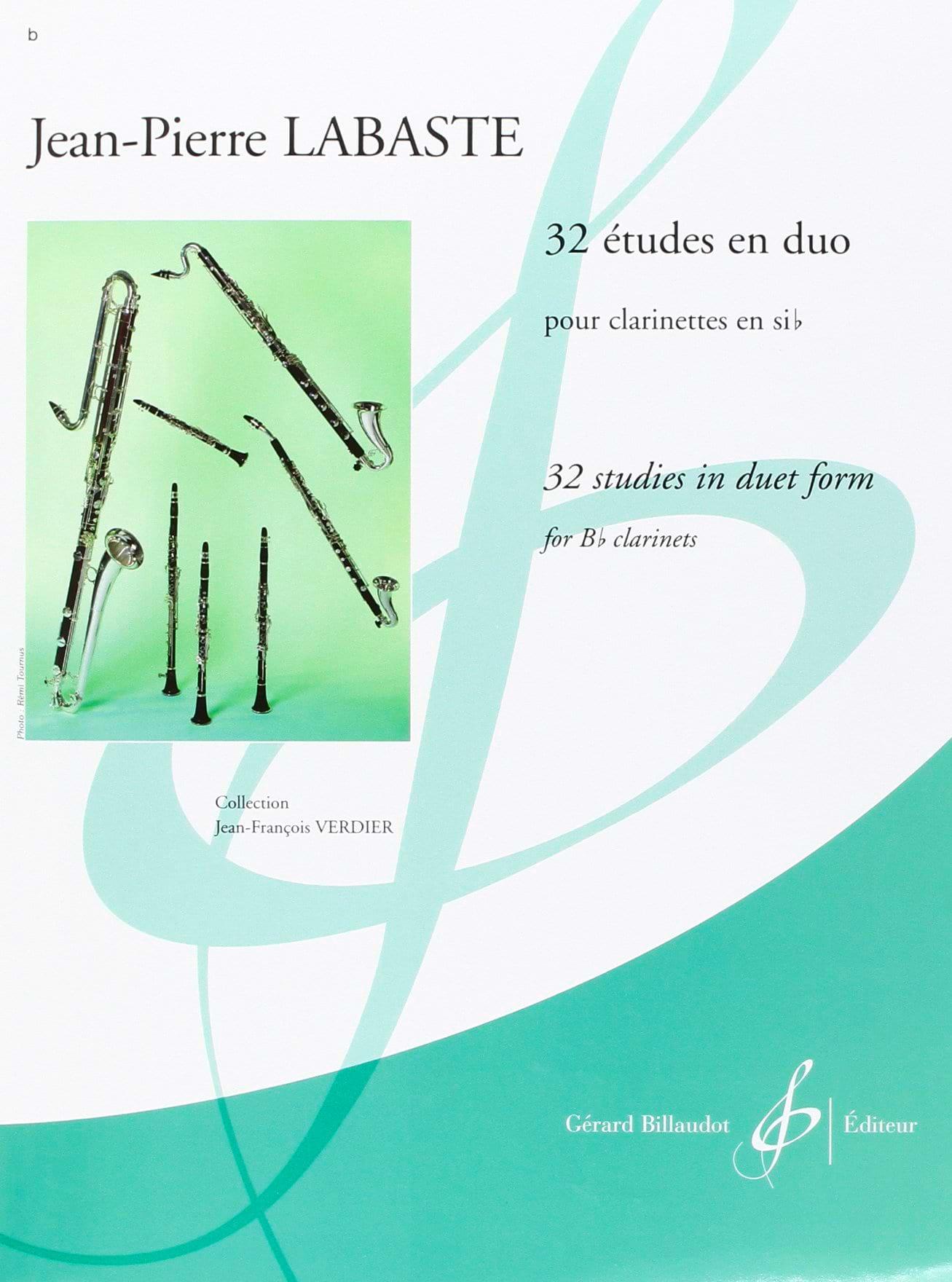 32 Etudes en duo - Jean-Pierre Labaste - Partition - laflutedepan.com