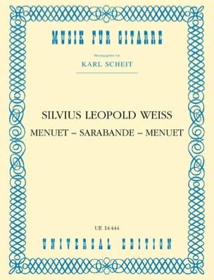 Menuet - Sarabande - Menuet - Silvius Leopold Weiss - laflutedepan.com