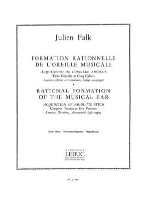 Formation de l'oreille musicale - Volume 2 Julien Falk laflutedepan