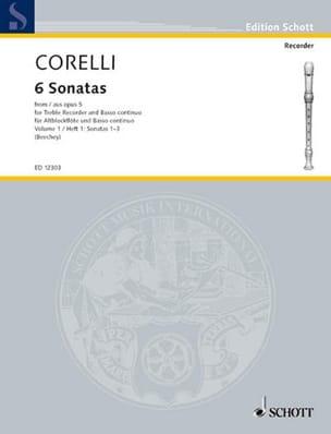 CORELLI - 6 Sonatas Aus Opus 5 - Bd. 1 - Partition - di-arezzo.com