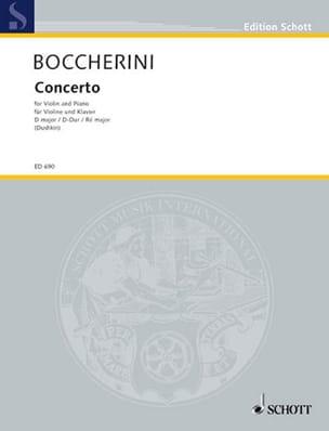 Concerto Violon en ré majeur BOCCHERINI Partition laflutedepan