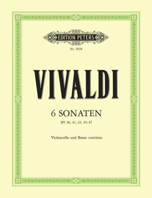 6 Sonaten - Violoncelle - VIVALDI - Partition - laflutedepan.com