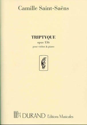 Triptyque pour violon et piano, op. 136 SAINT-SAËNS laflutedepan