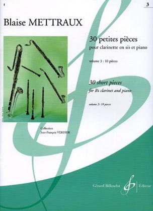 30 Petites pièces - Volume 3 Blaise Mettraux Partition laflutedepan