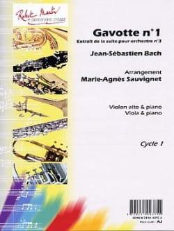 Gavotte n° 1 Suite orch. n°3 - alto et piano BACH laflutedepan