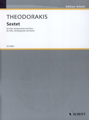Sextet THEODORAKIS Partition Sextuors - laflutedepan