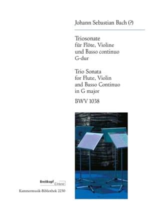 Trio Sonate en Sol Majeur BWV 1038 BACH Partition Trios - laflutedepan