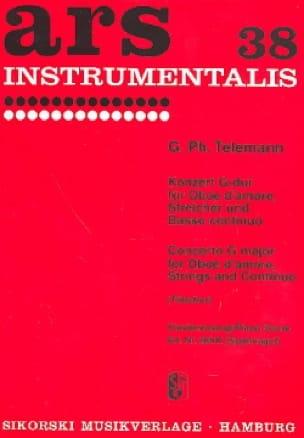 Konzert G-Dur -Oboe d'amore Klavier - TELEMANN - laflutedepan.com
