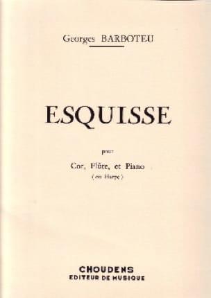 Esquisse - Georges Barboteu - Partition - Trios - laflutedepan.com