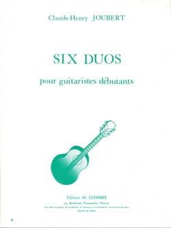 Six Duos - Guitare - Debutants Claude-Henry Joubert laflutedepan