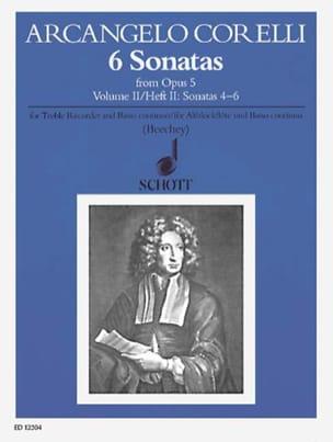 CORELLI - 6 Sonatas aus op. 5 - Bd. 2 - Alblockflöte u. Bc - Partition - di-arezzo.com